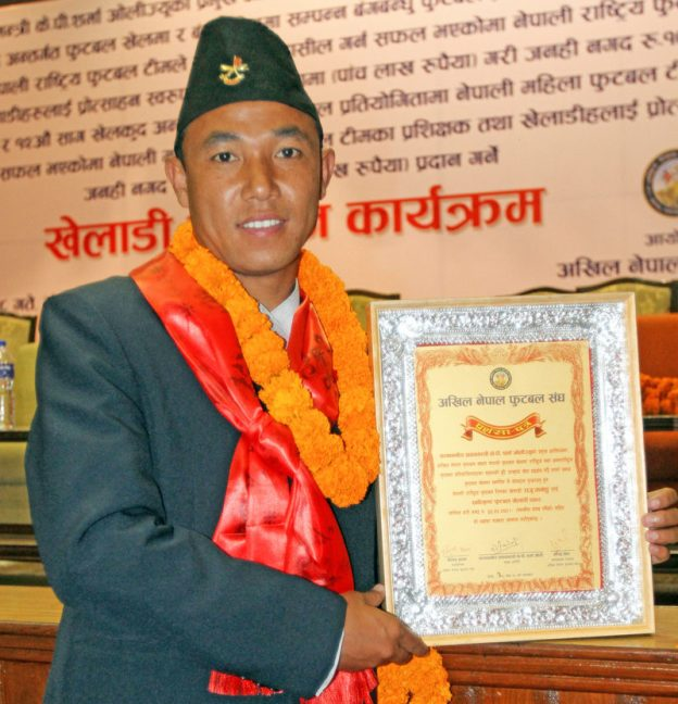 Raju Tamang Becomes Best Footballer of the Year '72