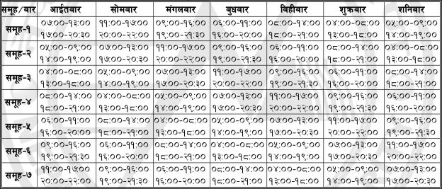 Load Shedding Schedule Changed, Decreased By 1 Hour Daily