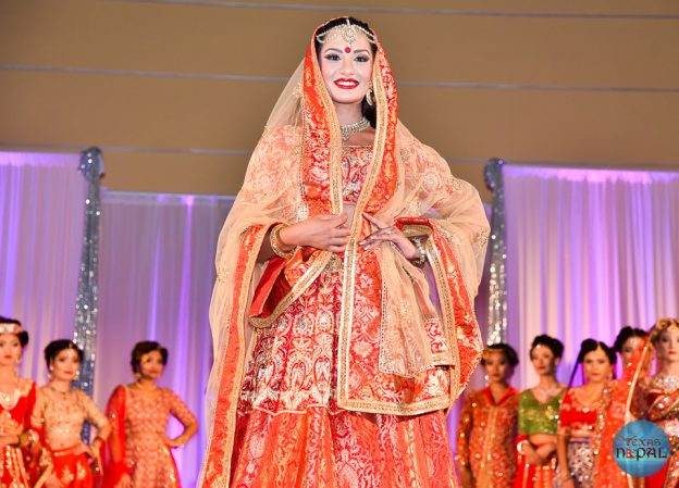 Fashion show featuring Gabi collection by Bina Ghale in Texas