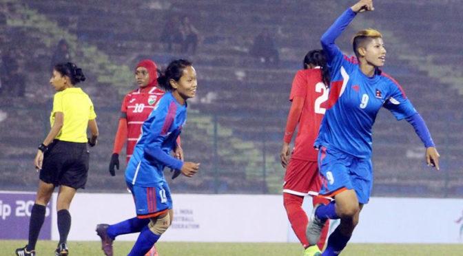 Nepal's Tremendous 9-0 Win Over Maldives In Women's SAFF Championship